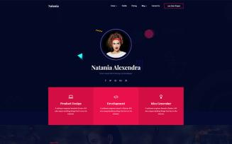 Natania | Personal Portfolio HTML5 Website Template