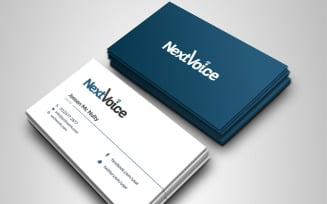 Clean Dark And Light Business Card - Corporate Identity Template