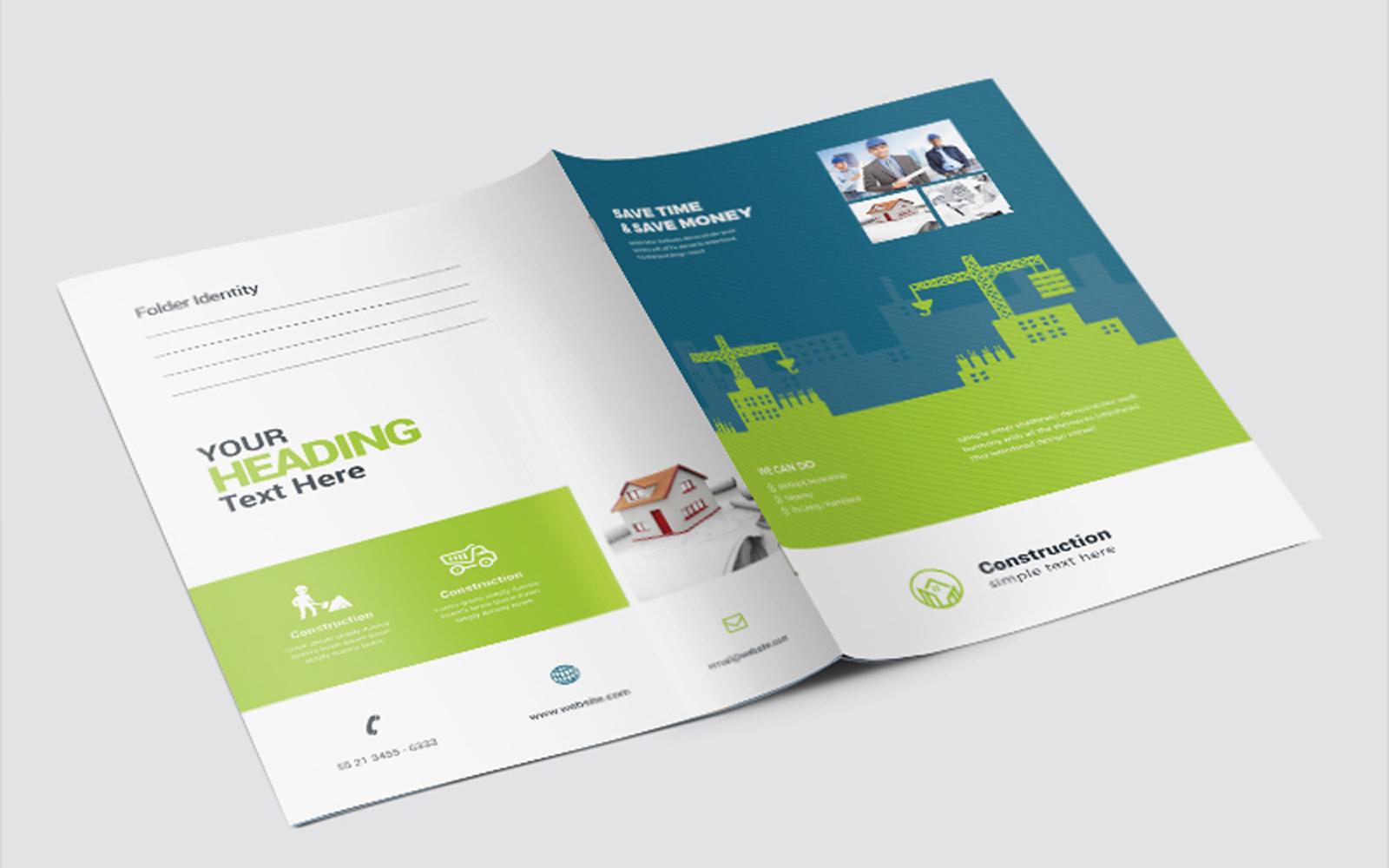 Construction Presentation Folder Corporate Identity Template