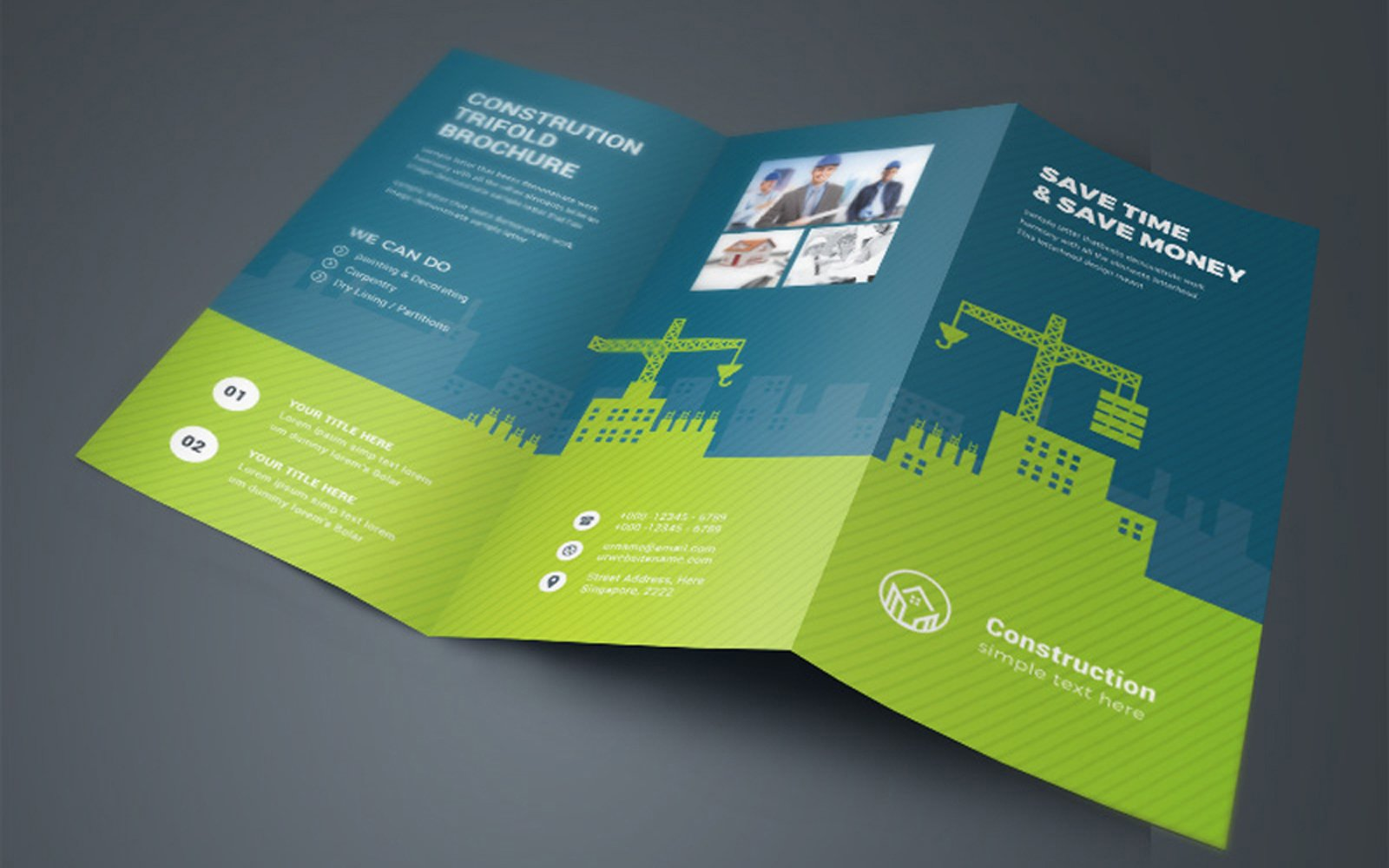 Construction TriFold Brochure Corporate Identity Template