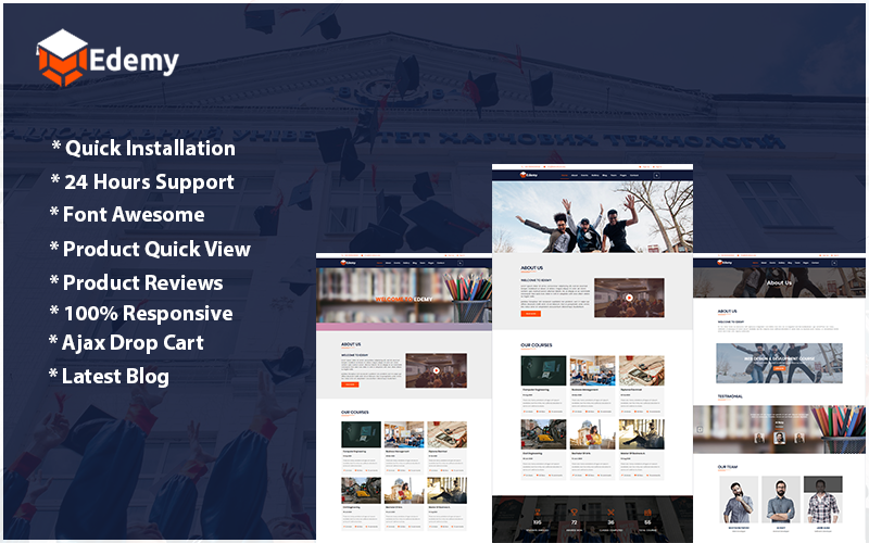 Edemy - Education HTML5 Website Template