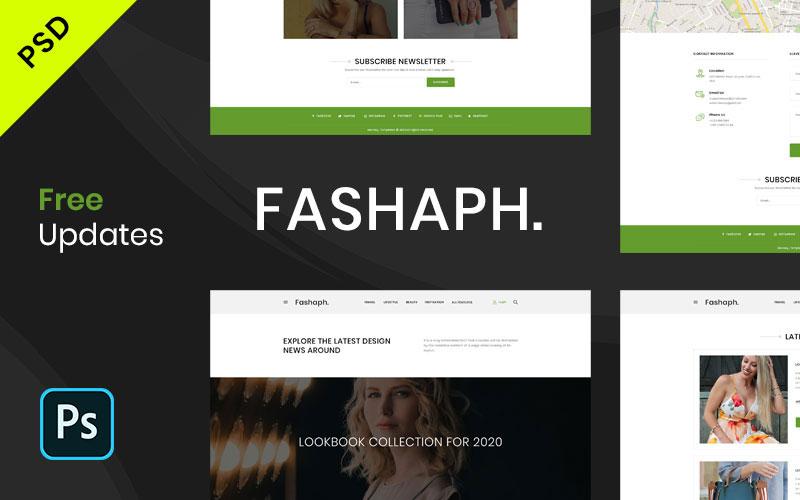 Fashaph-Startup & Creative Multipurpose PSD PSD Template