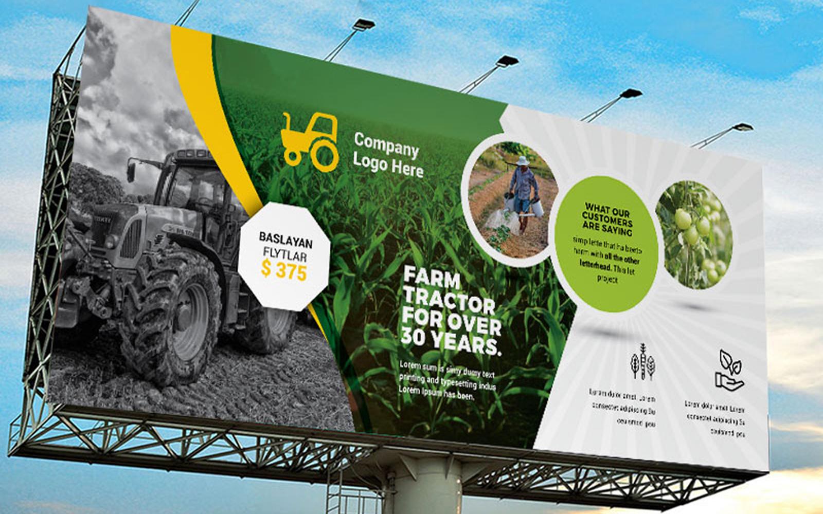 Garden Farm agriculture Billboard Banner Corporate Identity Template