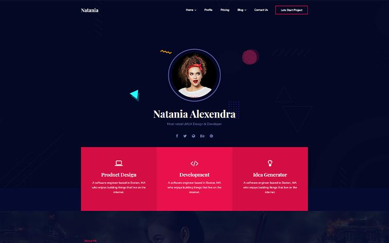 Natania   Personal Portfolio HTML5 Website Template