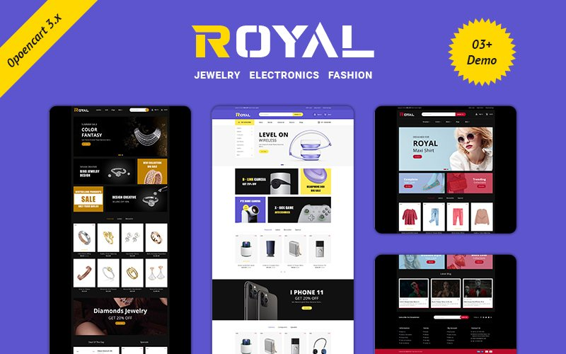 Royal-Multipurpose Responsive Theme OpenCart Template
