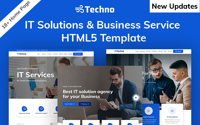 Techno-IT Solution & Business Services HTML5 №101273