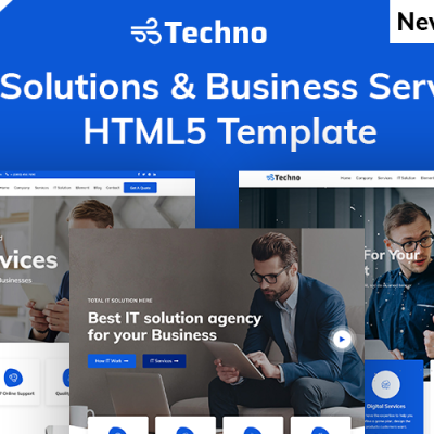 Techno-IT Solution & Business Consulting Website Template #101273