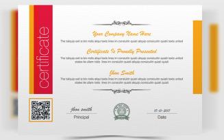 Clean Business 2 Certificate Template