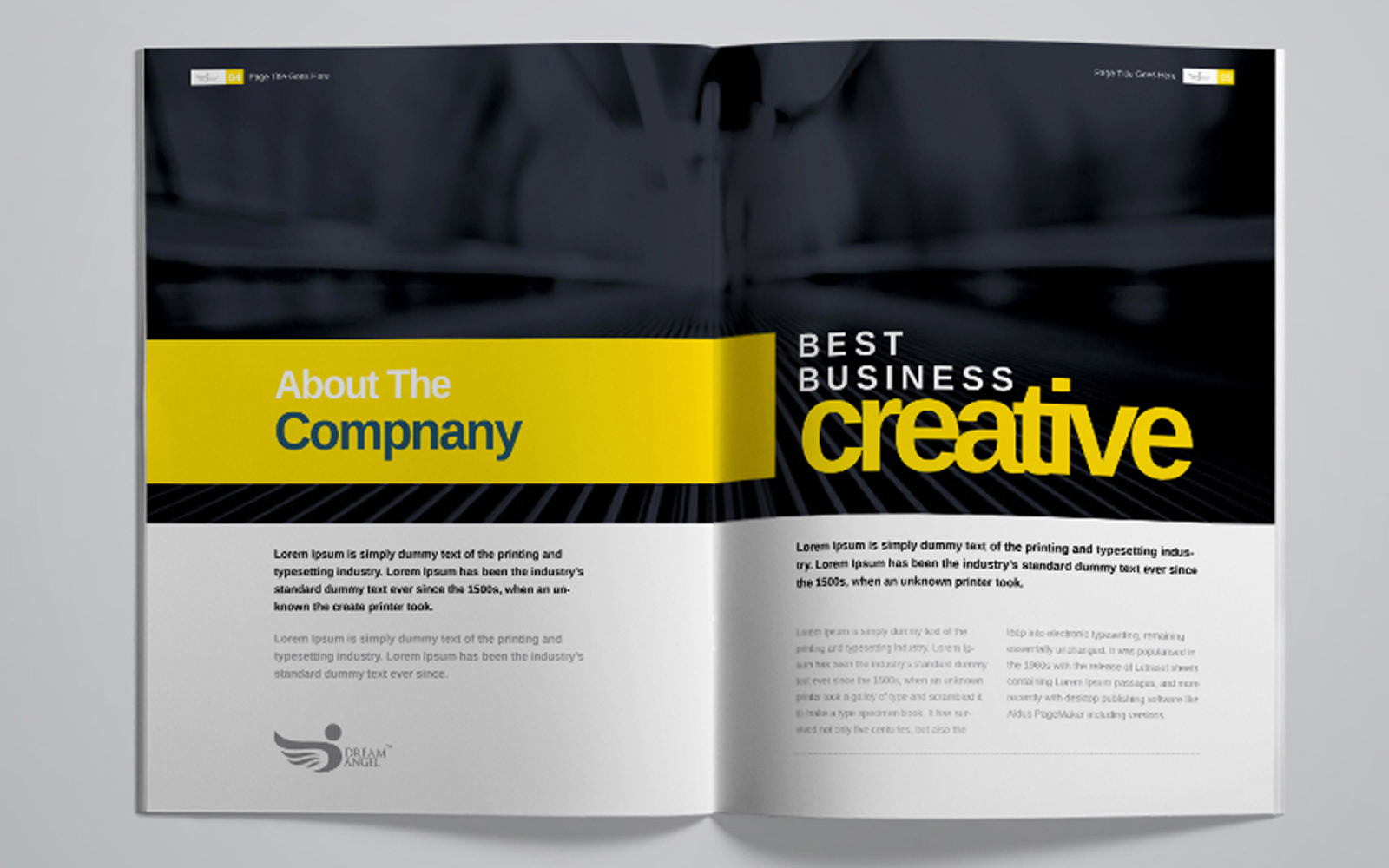 Dream Angle Corporate Project Proposal Resume Template
