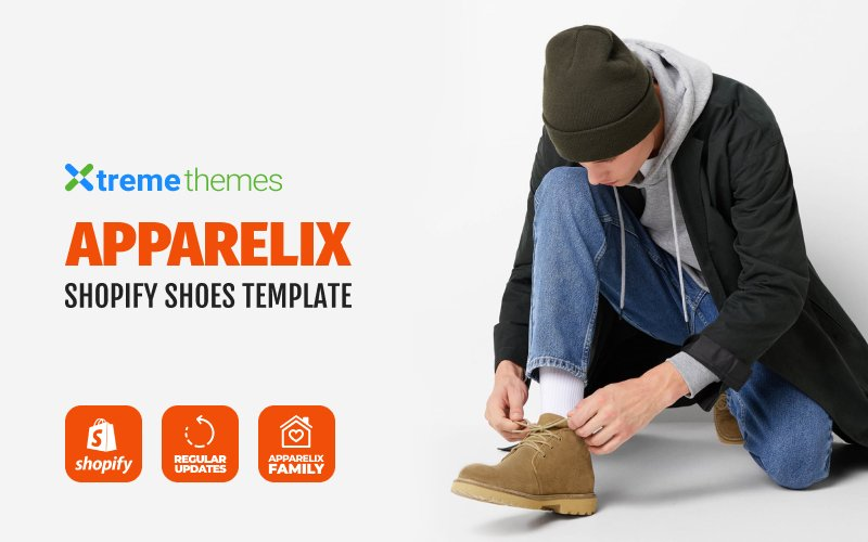 "Shopify Theme namens ""Apparelix Shoes Store Design"" #101385"