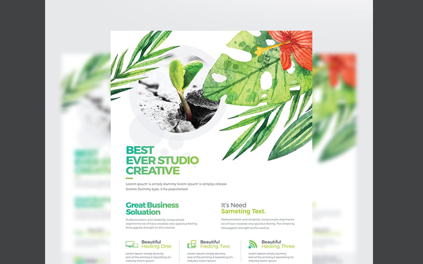 WaterColor Creative Clean Business Flyer Corporate Identity Template