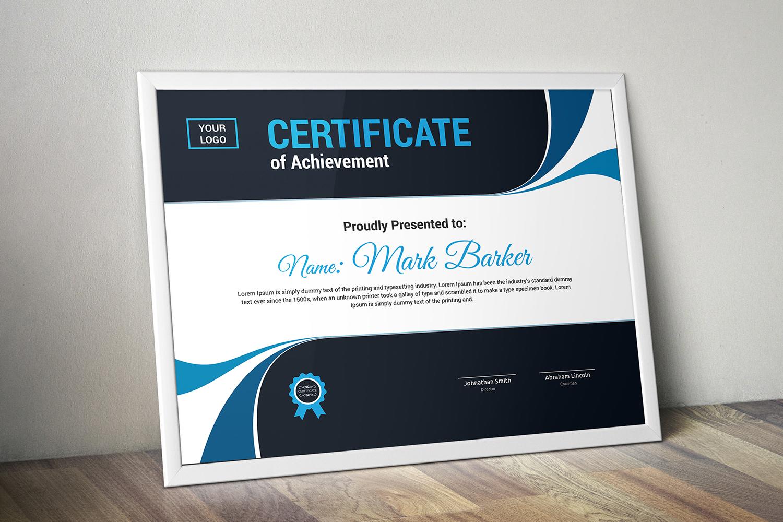 """Zertifikat-Vorlage namens """"Modern"""" #101322"""