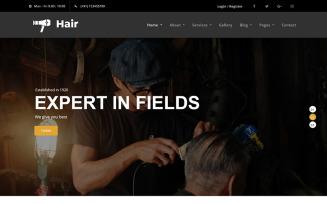 Hair - Barber HTML5