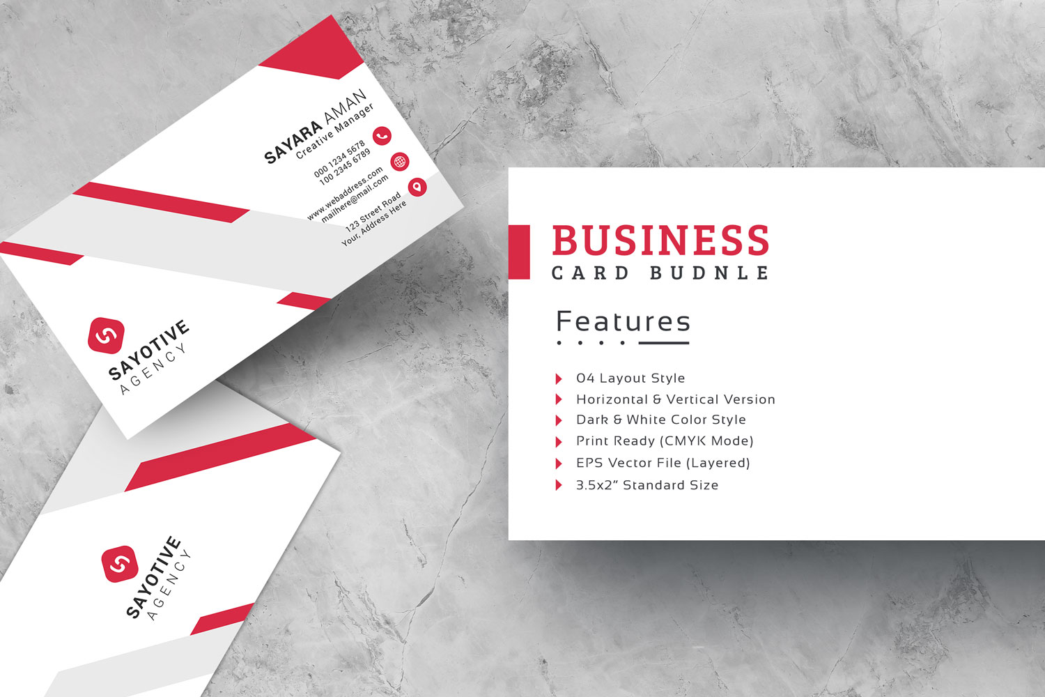 Business Card With Four Layout Style Corporate Identity Template