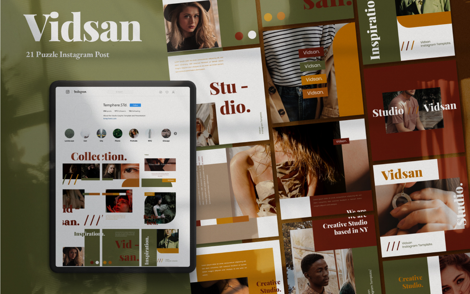 Media społecznościowe Vidsan Puzzle Brand #101401