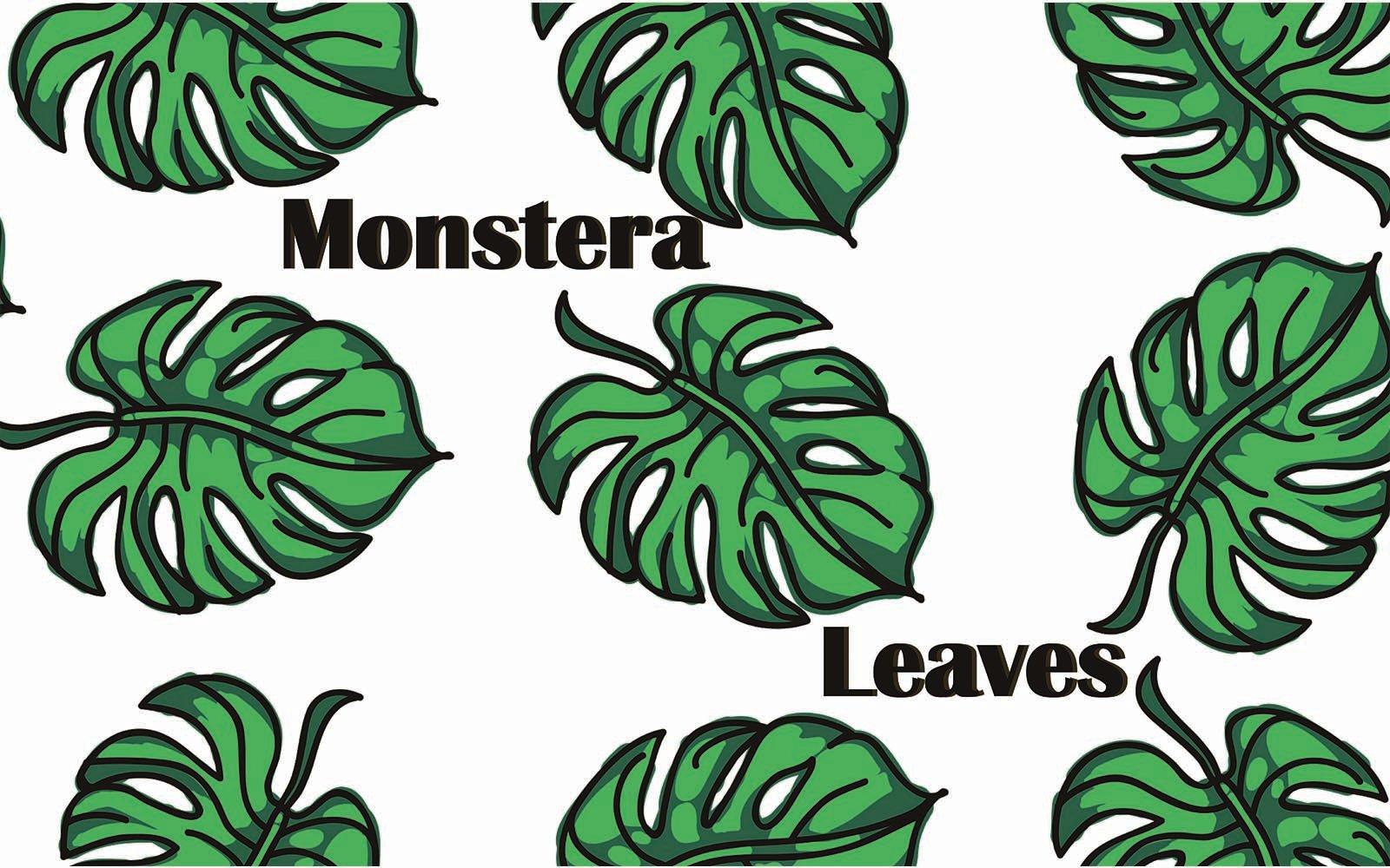 "Pattern ""Monstera leaves"" #101481"