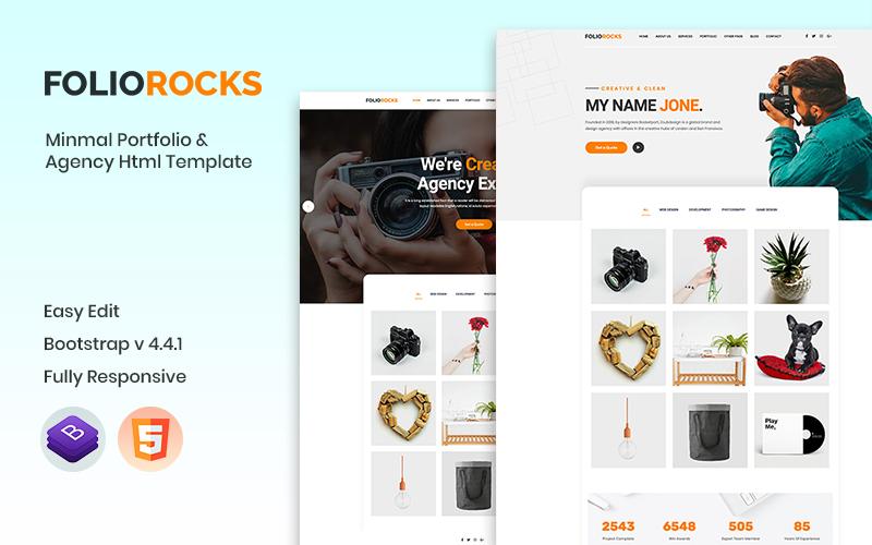"""Plantilla Web """"Foliorocks - Portfolio & Agency"""" #101466"""