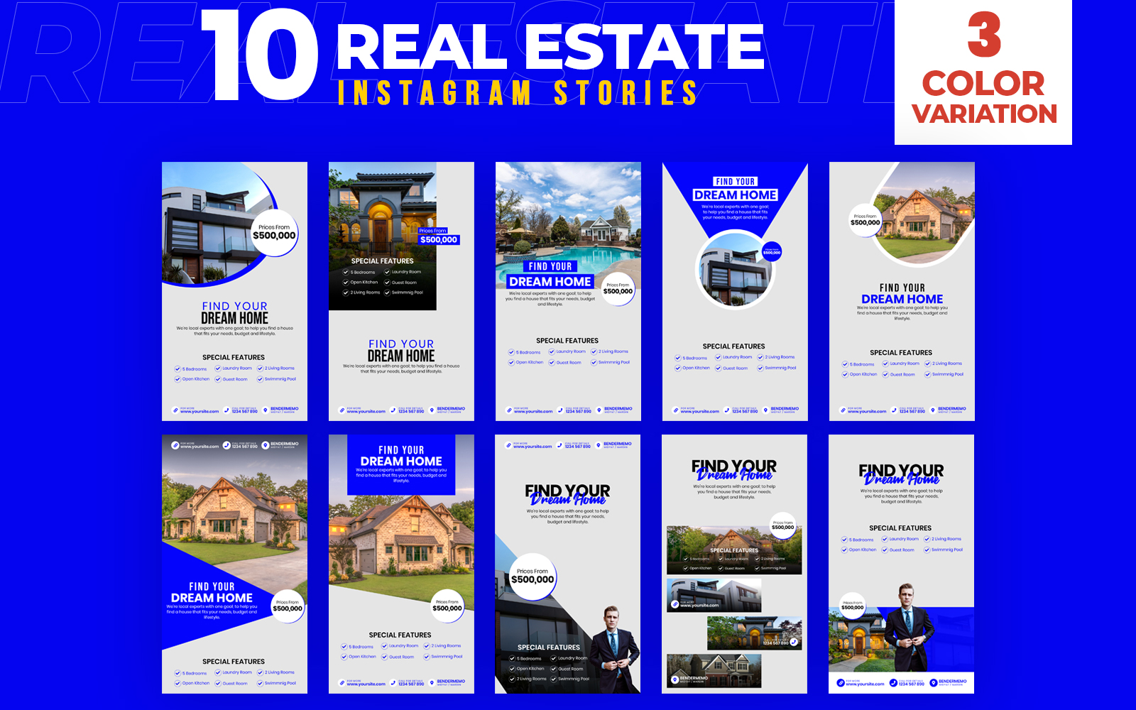 Real Estate 10 Instagram Stories Social Media