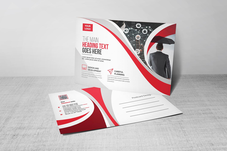 Curvy Modern Postcard Corporate identity-mall #101539