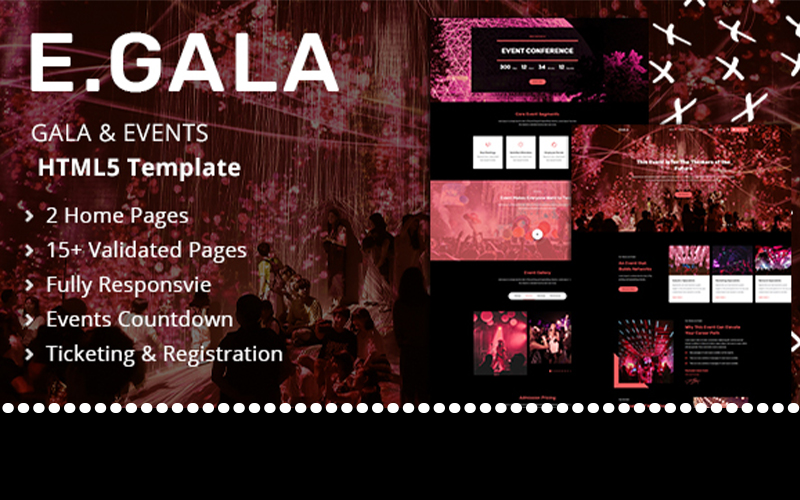 """Egala | Gala & Events HTML"" Responsive Website template №101561"