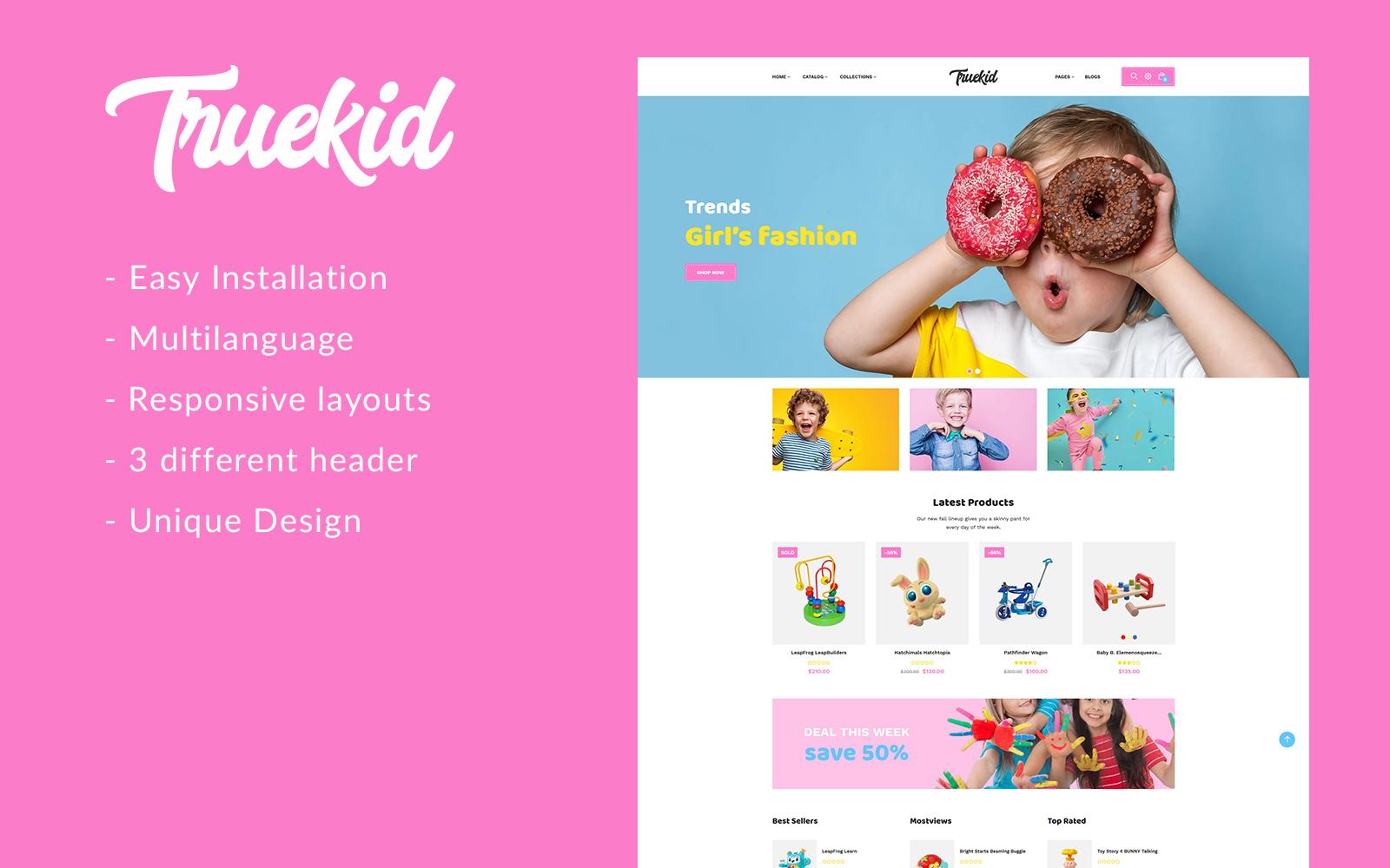 Gts Truekid - Responsive Shopify Theme