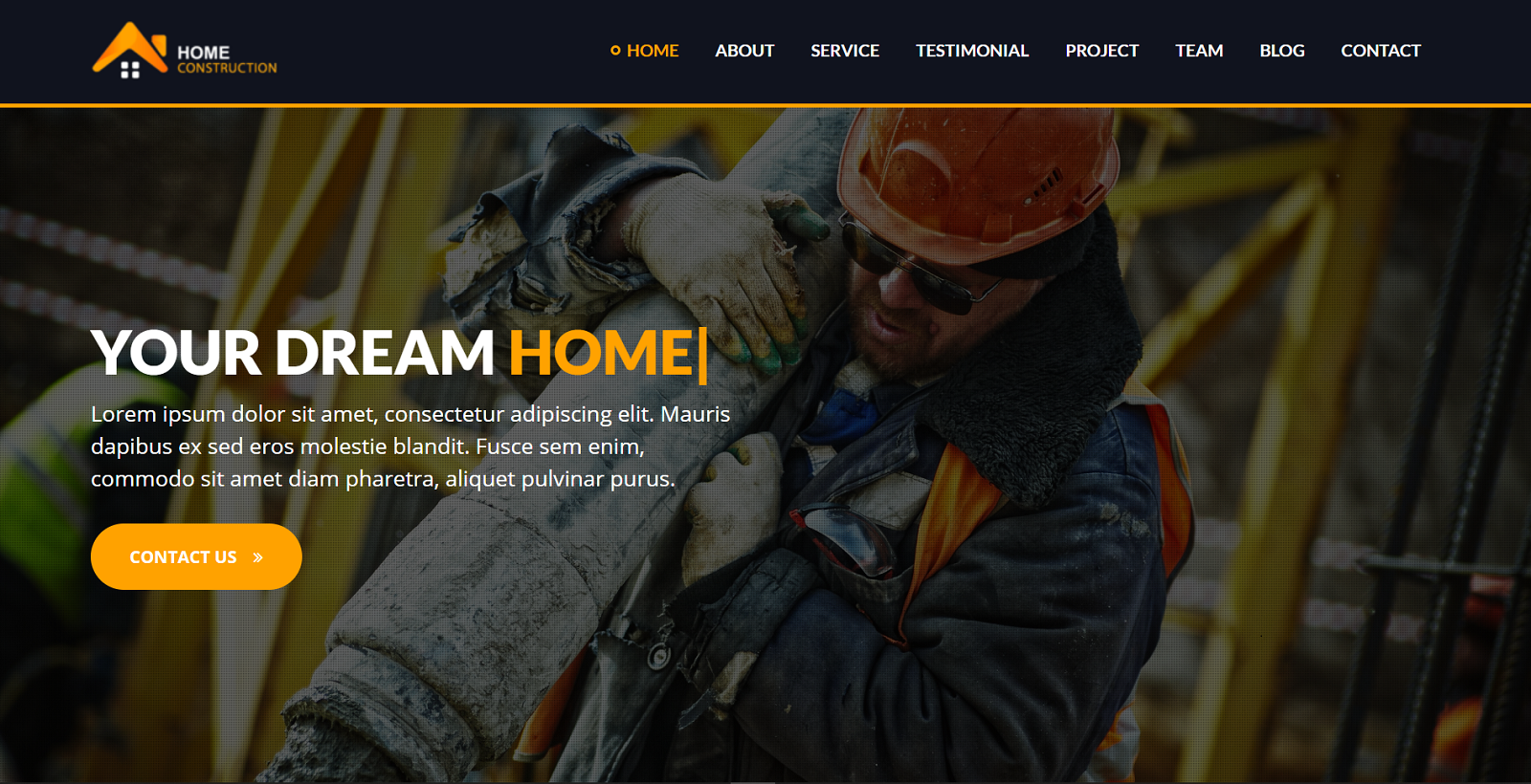 HomeConstruction - Builder Landing Page Template