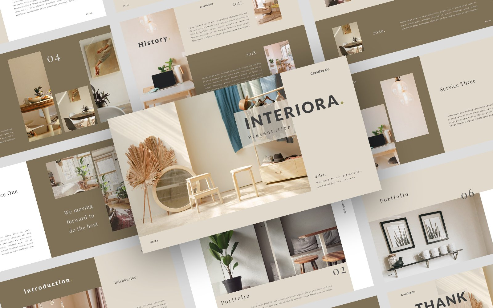 Interiora. Clean & Modern Business PowerPoint Template