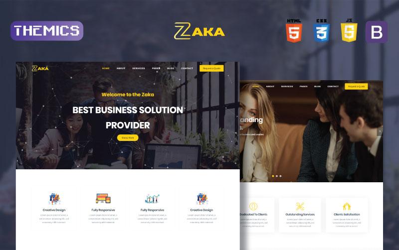 "Modello Siti Web Responsive #101567 ""Zaka - Business & Corporate HTML5"""