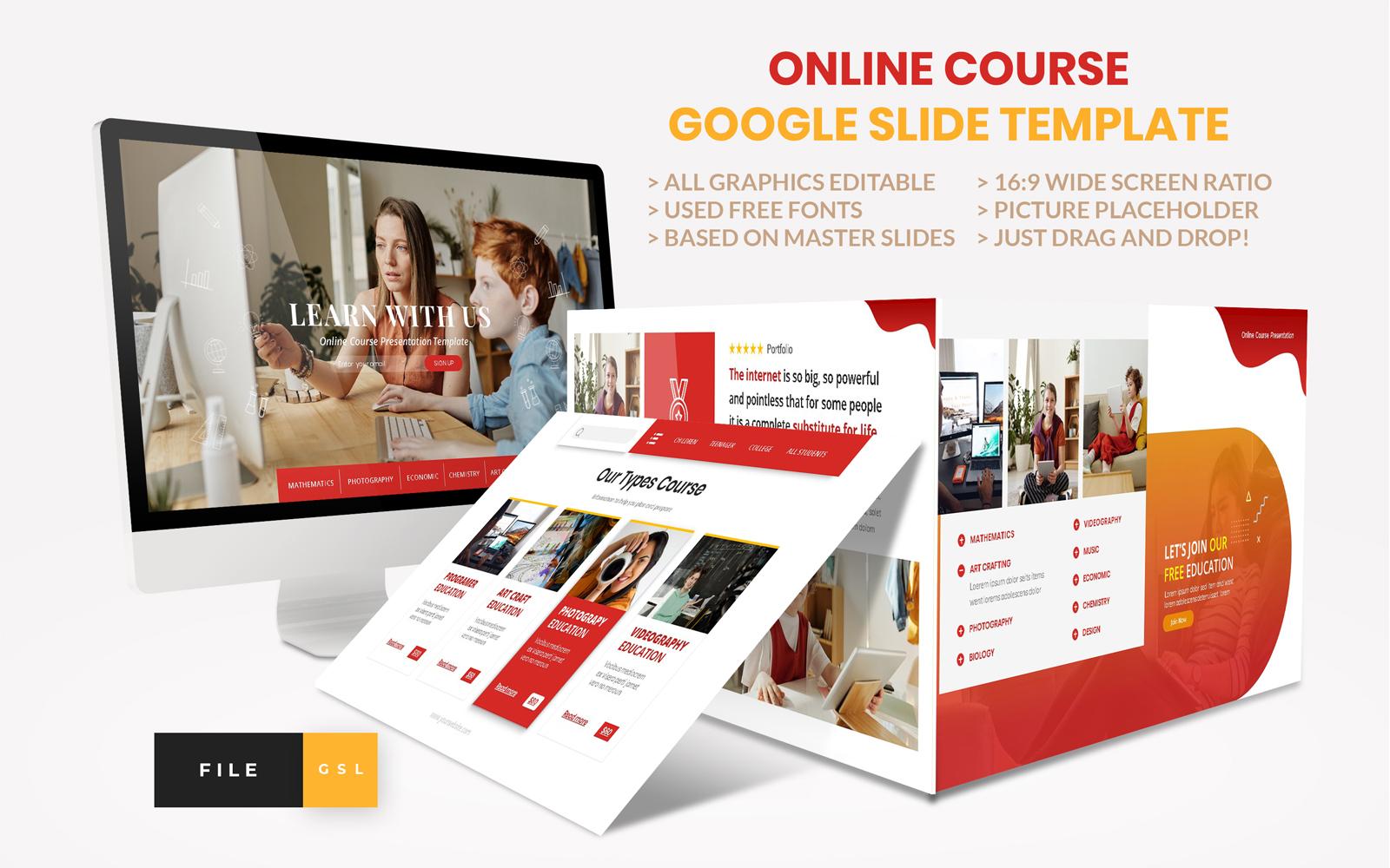 Online Course - Education Google Slides