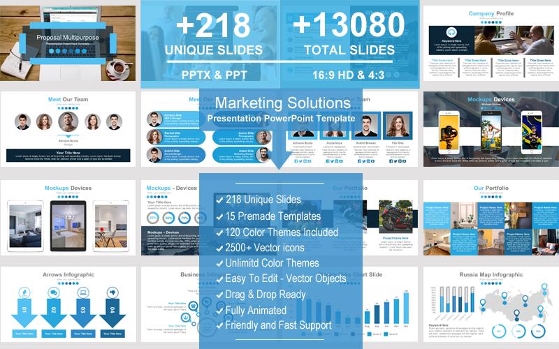 "Plantilla PowerPoint ""Marketing Solutions"" #101576"