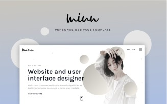 Miun Personal Webpage Website Template