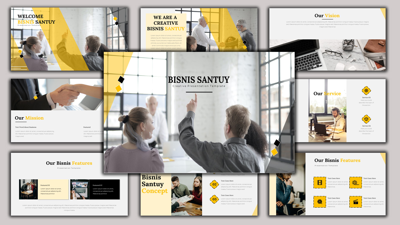 Bisnis Santuy - Creative Business PowerPoint Template