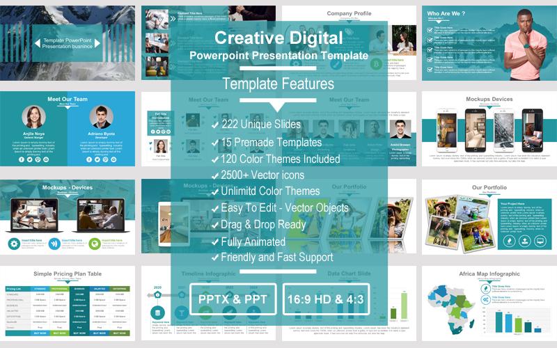 Creative Digital PowerPoint Template