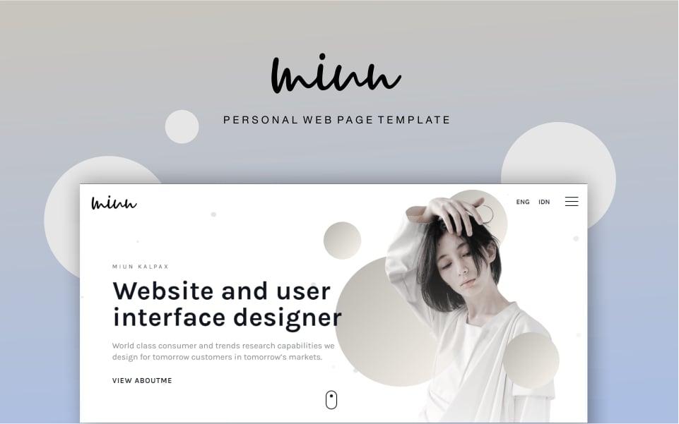 Miun Personal Webpage Website Template