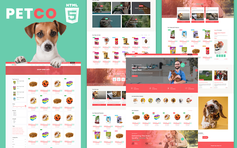 Petco | Pet Shelter and Shop Website Template
