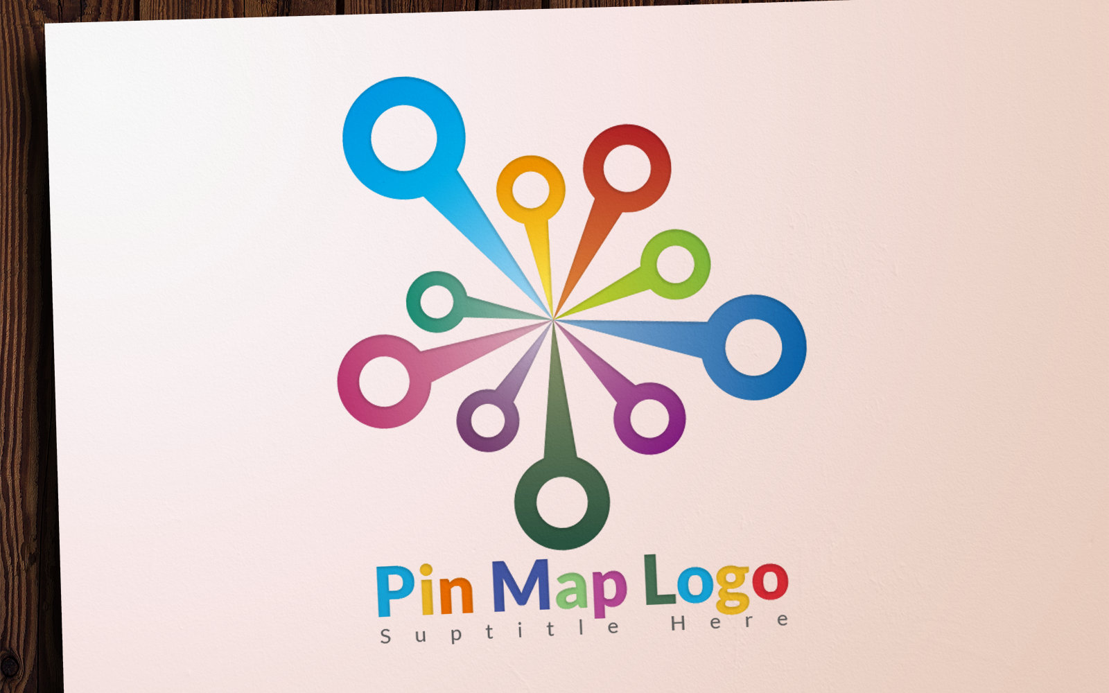 Pin Map Logo Template