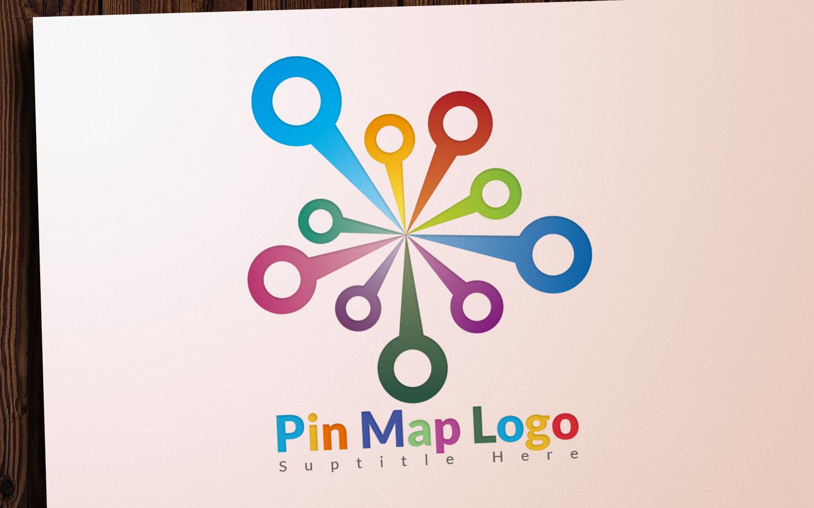 Pin Map Unika logotyp mall #101607