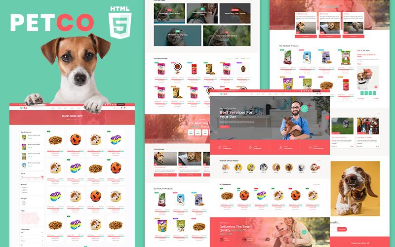 Reszponzív Petco | Pet Shelter and Shop Weboldal sablon 101673