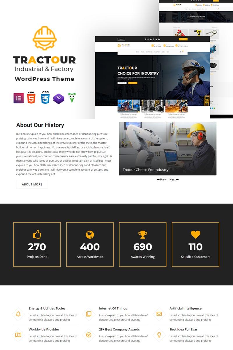 "Tema De WordPress ""Tractour - Industrial / Manufacturing"" #101670"