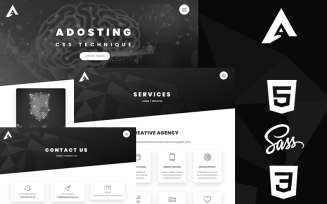 Adosting Creative Html5 & Css3 Responsive Theme Website Template