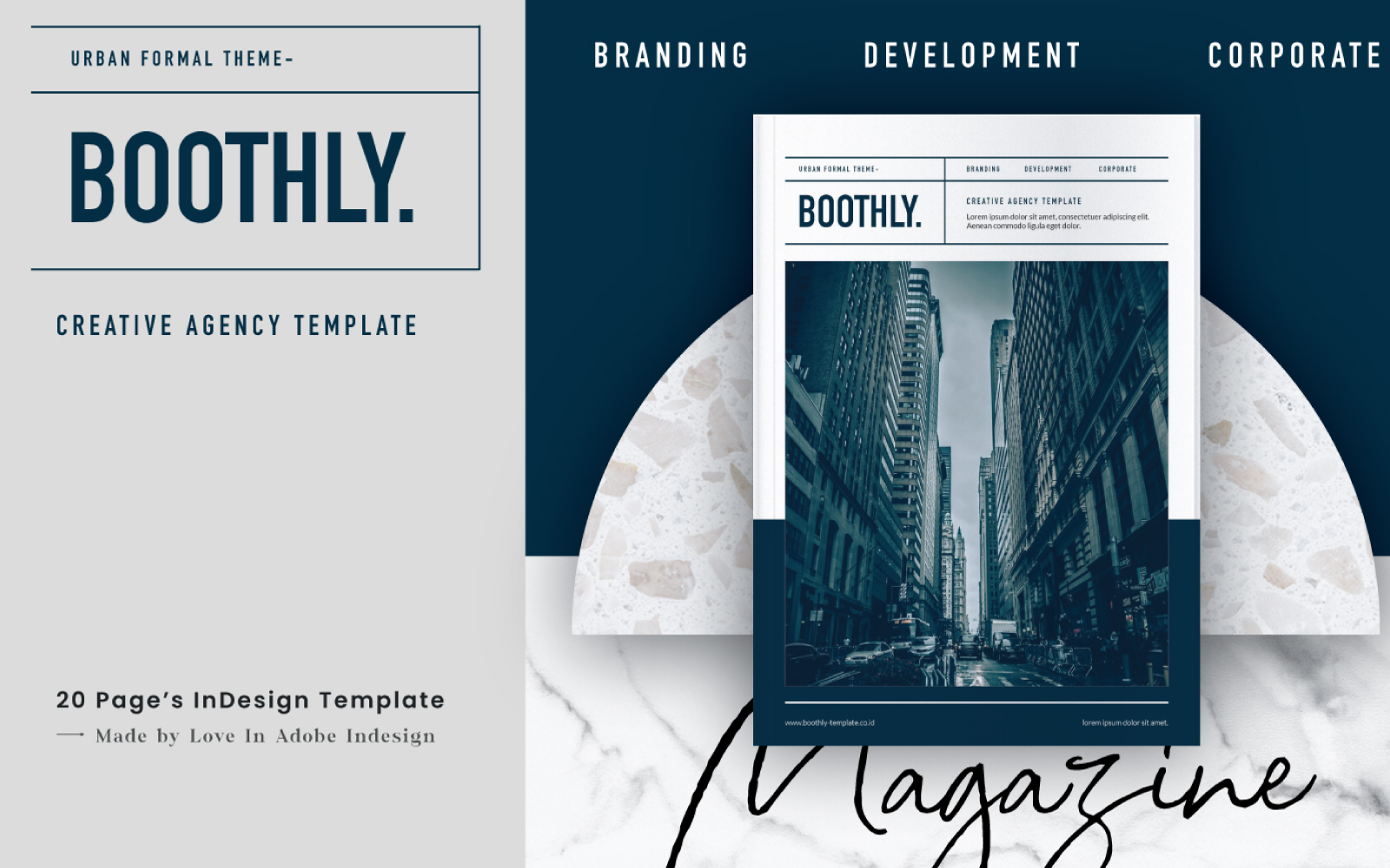 BOOTHLY CREATIVE AGENCY Magazine Template