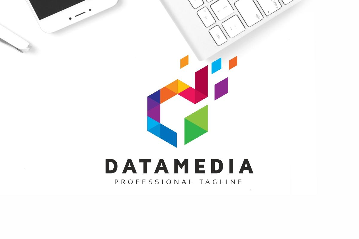 Datamedia D Letter Colorful Logo Template