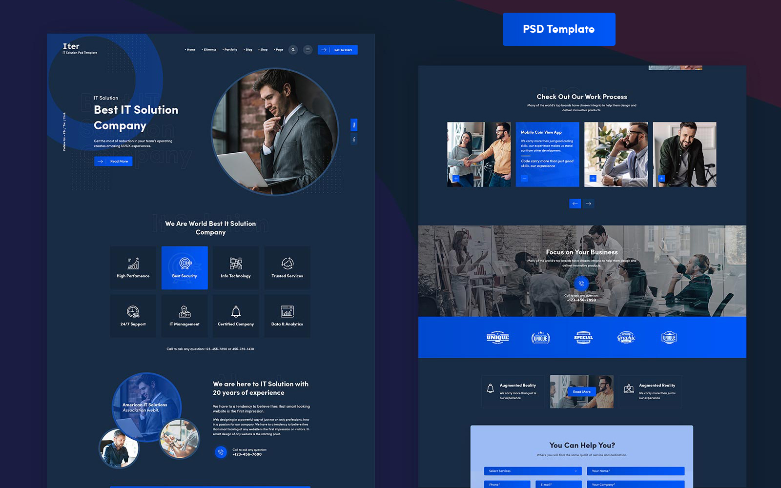 Iter - IT Template Photoshop №101774