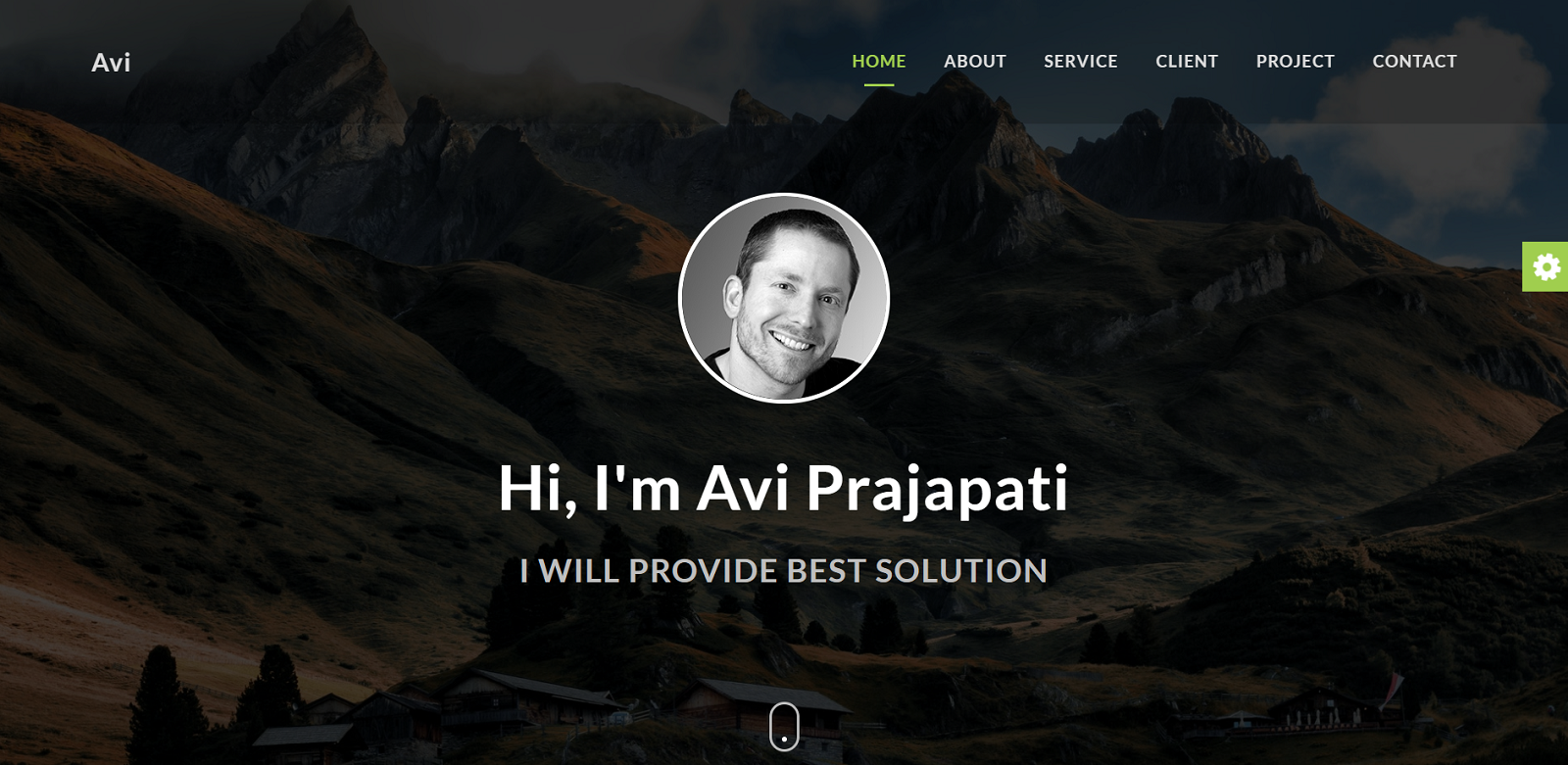 "Landing Page Template namens ""Avi - Portfolio Multipurpose"" #101714"