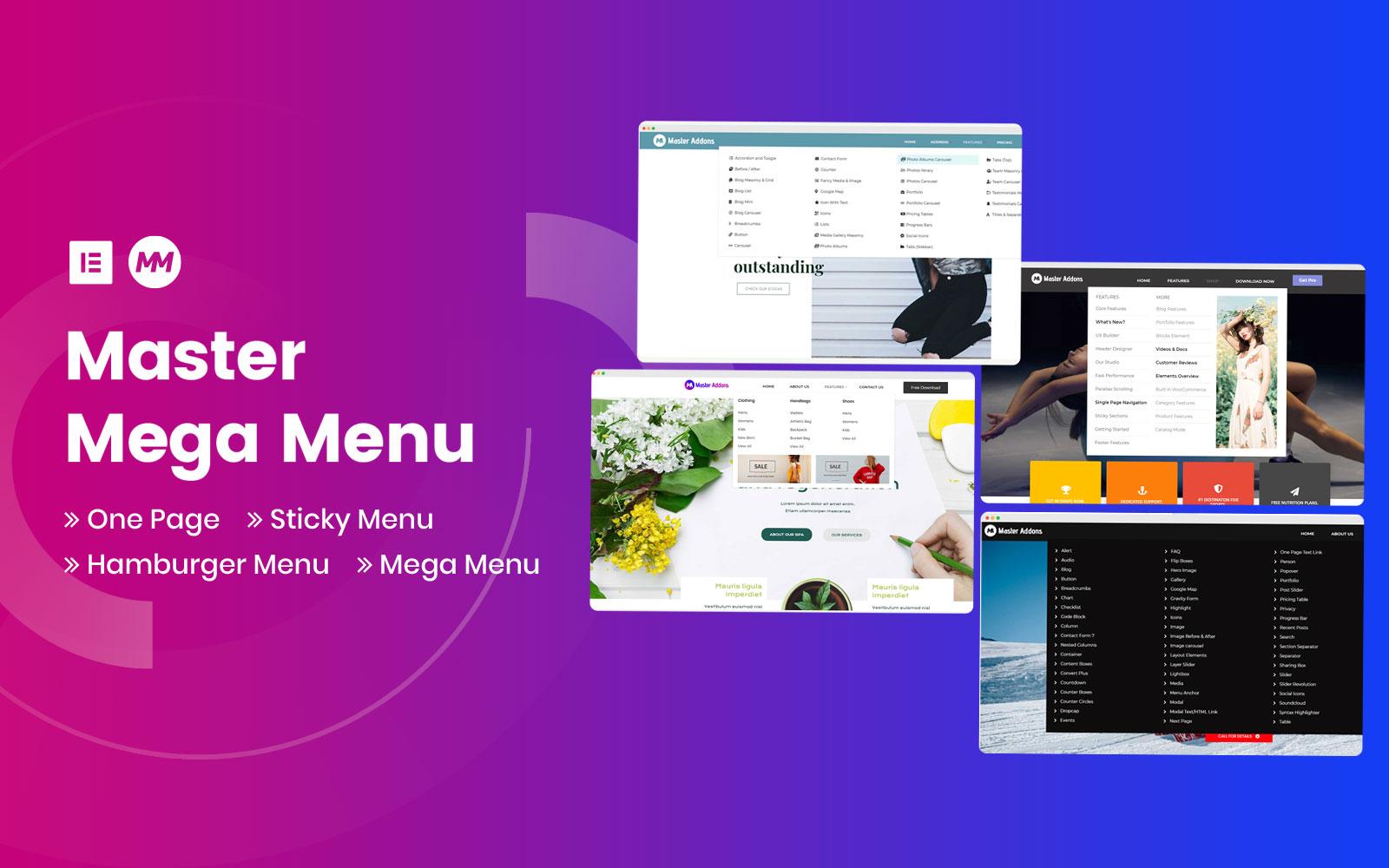 """""""Mega Menu for Elementor"""" WordPress Plug-in №101773"""