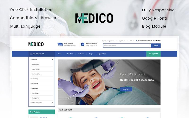 Reszponzív Medico - Medical Store PrestaShop sablon 101767