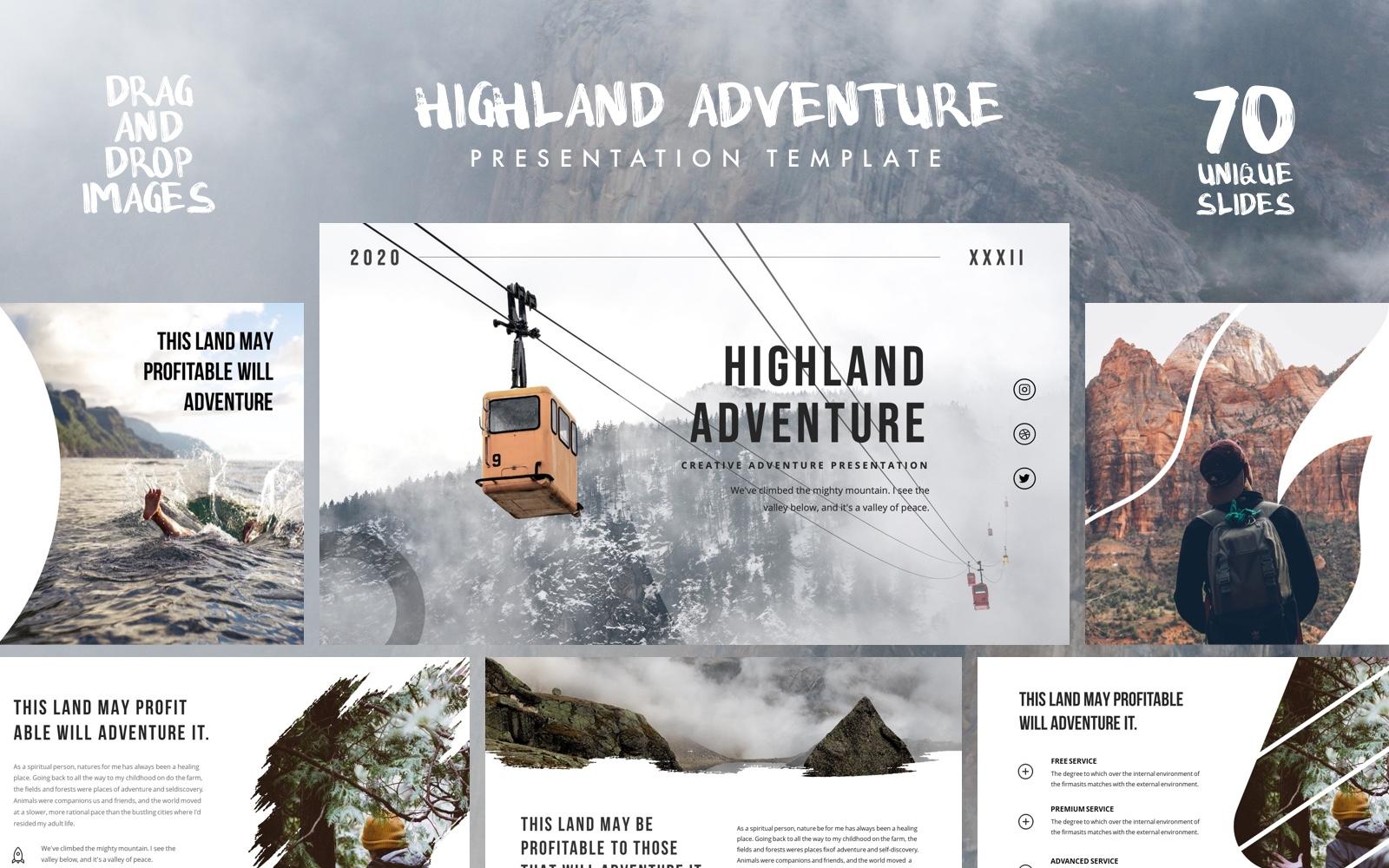 "Šablona pro Keynote ""HIGHLAND - Outdoor Presentation"" #101758"