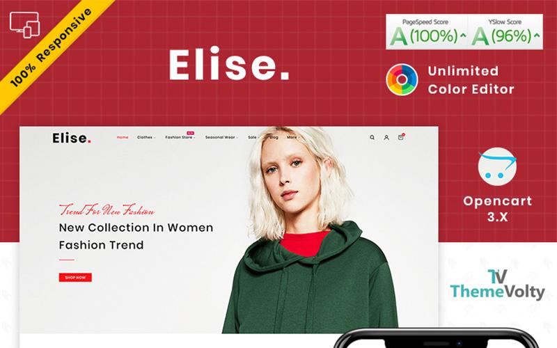 """Elise Fashion"" - адаптивний OpenCart шаблон №101806"