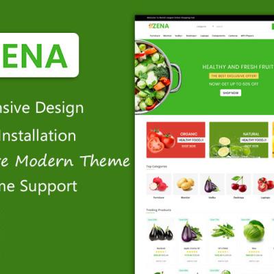 Zena Organic and Grocery Multipurpose Theme OpenCart Template #101809