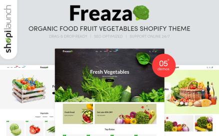 Freaza - Organic Food Fruit Vegetables Shopify Theme